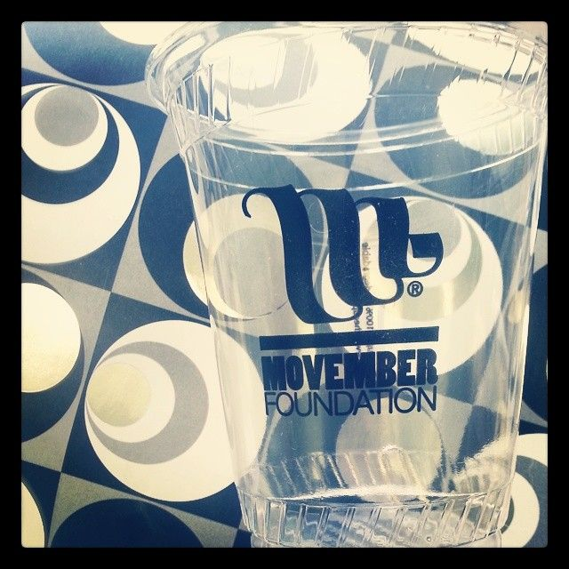 Custom cups are great for special events, promoting a brand, or getting the word out about a cause. @The Movember Foundation is promoting themselves with these biodegradable 12oz plastic cups, which also decompose completely. #movember #moustache #cause #canada #menshealth #marketing