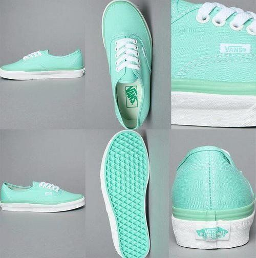 tiffany blue/mint green VANS!!!
