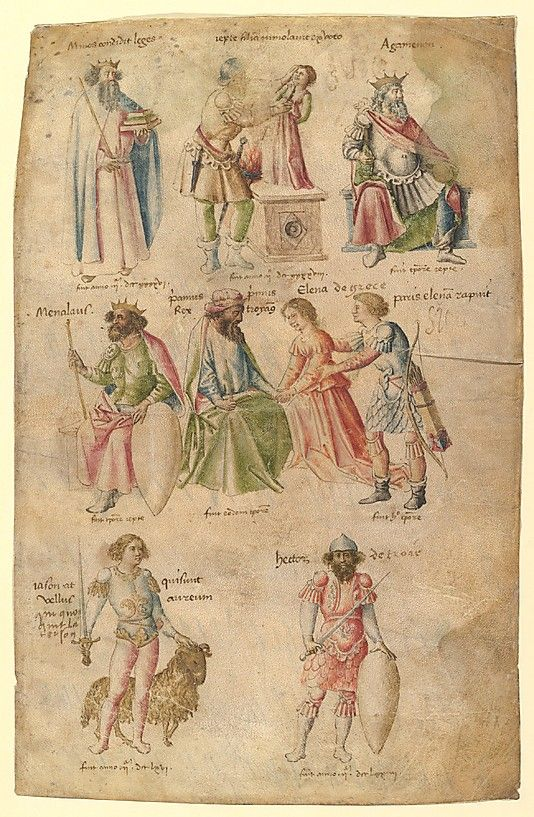Famous Men and Women from Classical and Biblical Antiquity  Attributed to Barthelemy d'Eyck  (Netherlandish, flourished 1444–1469)