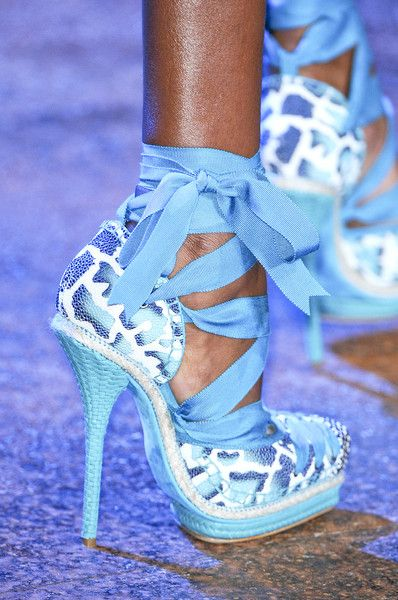 Christian Dior - Paris Spring 2011Baby Blue, Paris Fashion, Christian Dior, Luxury Travel, Blue Shoes, Animal Prints, High Heels, Something Blue, Dior Shoes