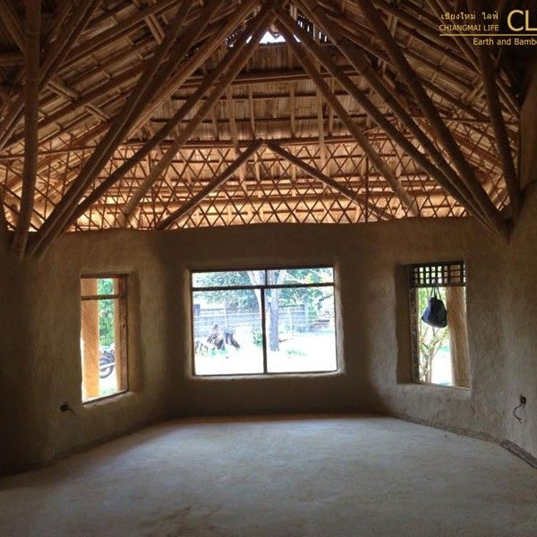 Private Residence Adobe Bricks Bamboo Roof For You And