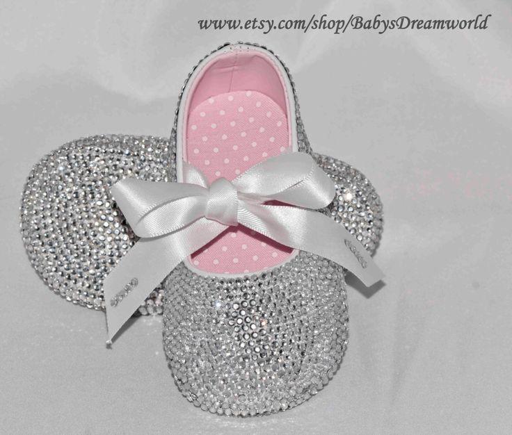 Baby Swarovski Rhinestones Ballet Shoes 0 12 Month