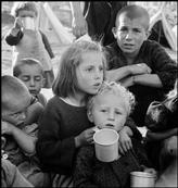 GREECE. Ioannina. 1948. Refugees from the Civil War areas waiting for Unicef milk at refugee camp. David Seymour