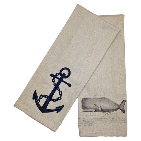 Whale & Anchor Towel