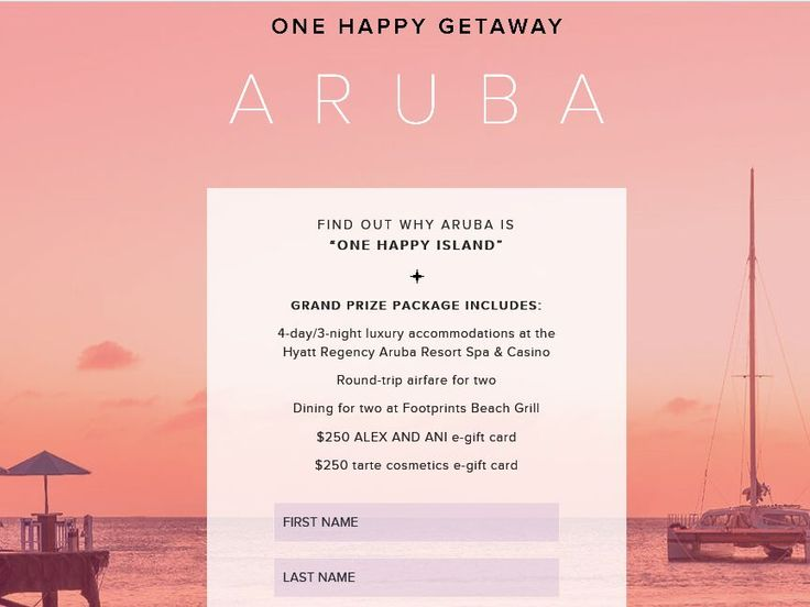 Enter the Alex and Ani Win a Trip to Aruba Sweepstakes for a chance to win a 4-day/3-night trip for two to Aruba!