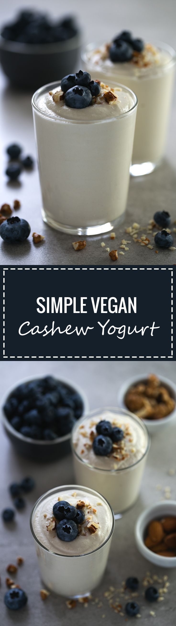Making non-dairy yogurt at home is so easy, besides, it's healthier and tastes so good! We used unsalted raw cashews to make this delicious vegan yogurt.