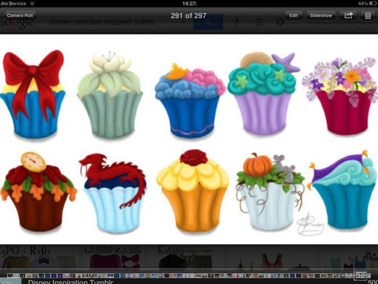Disney Princesses' inspired cupcakes!