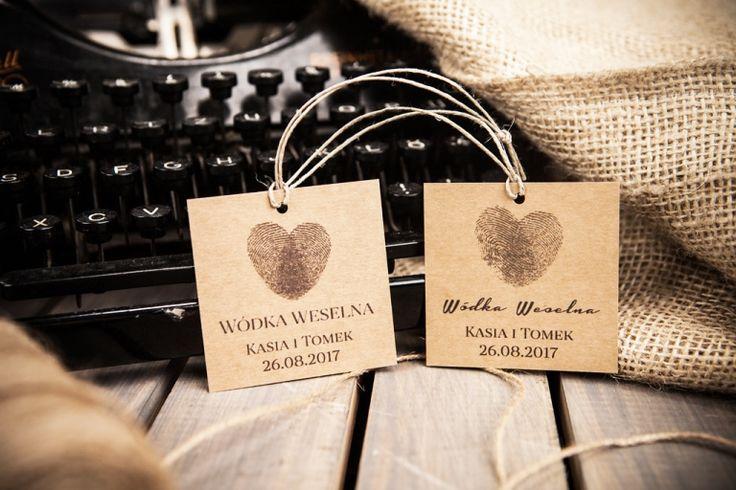 Galeria Zaproszeń, Zawieszki na alkohol, Kolekcja Heart ...w stylu retro