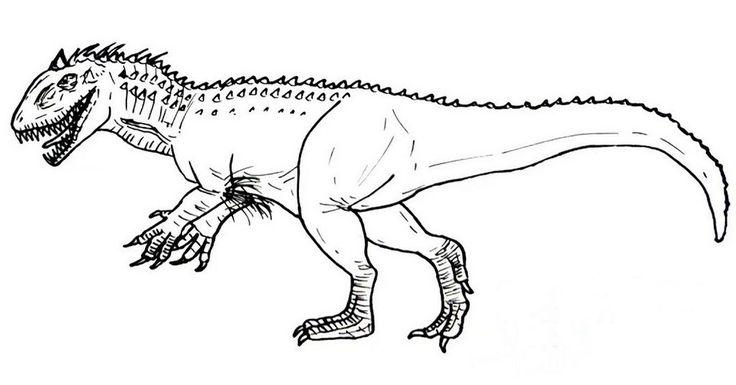 hybrid dinosaur indominus rex coloring picture | Gambar