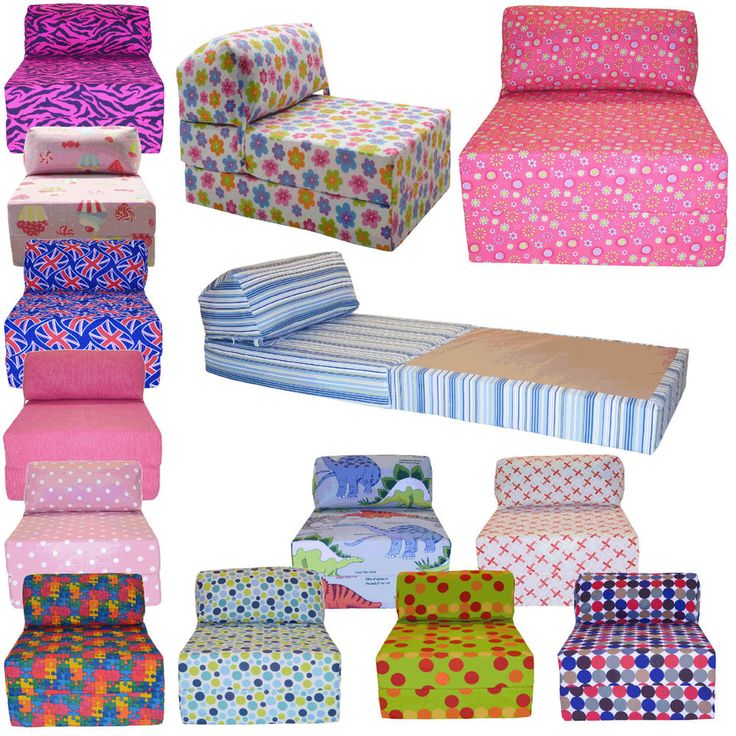 Cotton Print Single Chair Bed Z Guest Fold Out Futon Sofa Chairbed Matress Gilda in Home, Furniture & DIY, Furniture, Sofas, Armchairs & Suites | eBay.