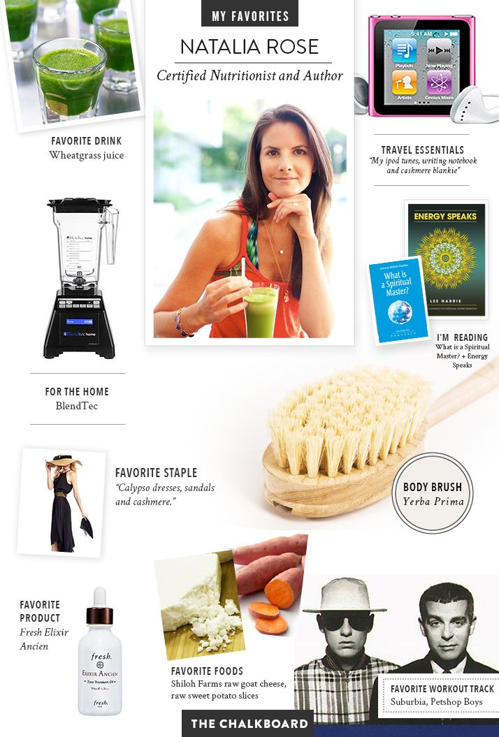 The Chalkboard Mag: check out a few of nutritionist and raw health guru Natalia Rose's favorite things!