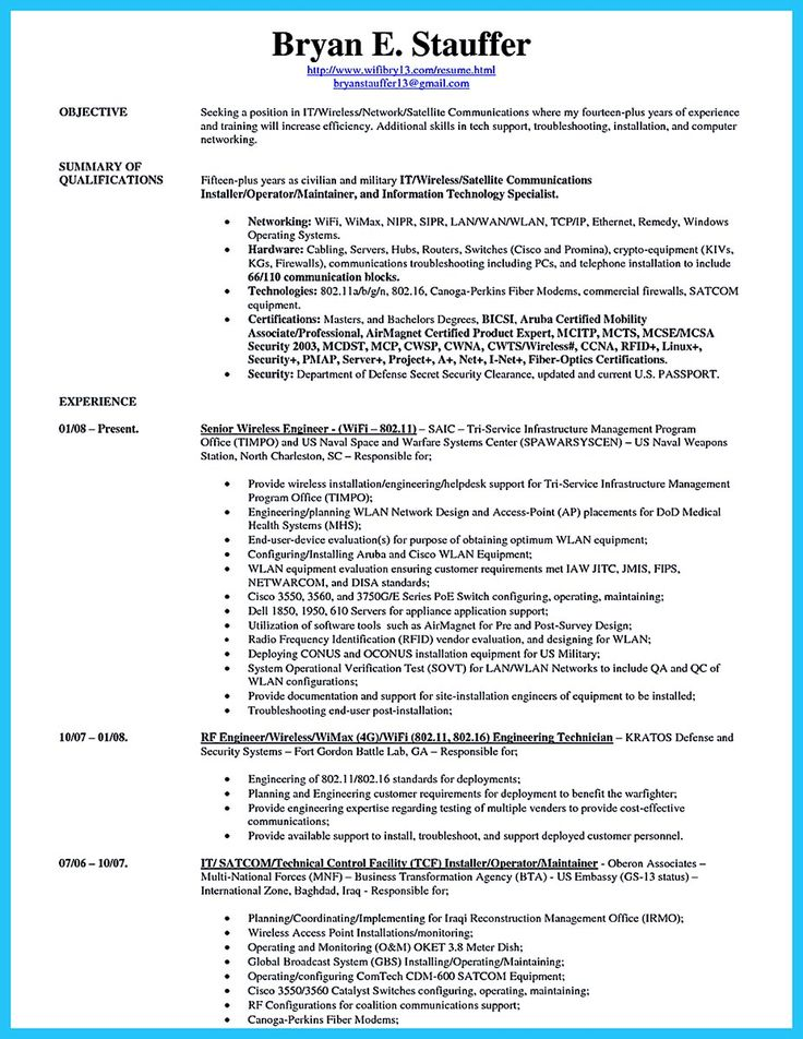 Are you trying to make the best cable technician resume ever? If - cable technician resume