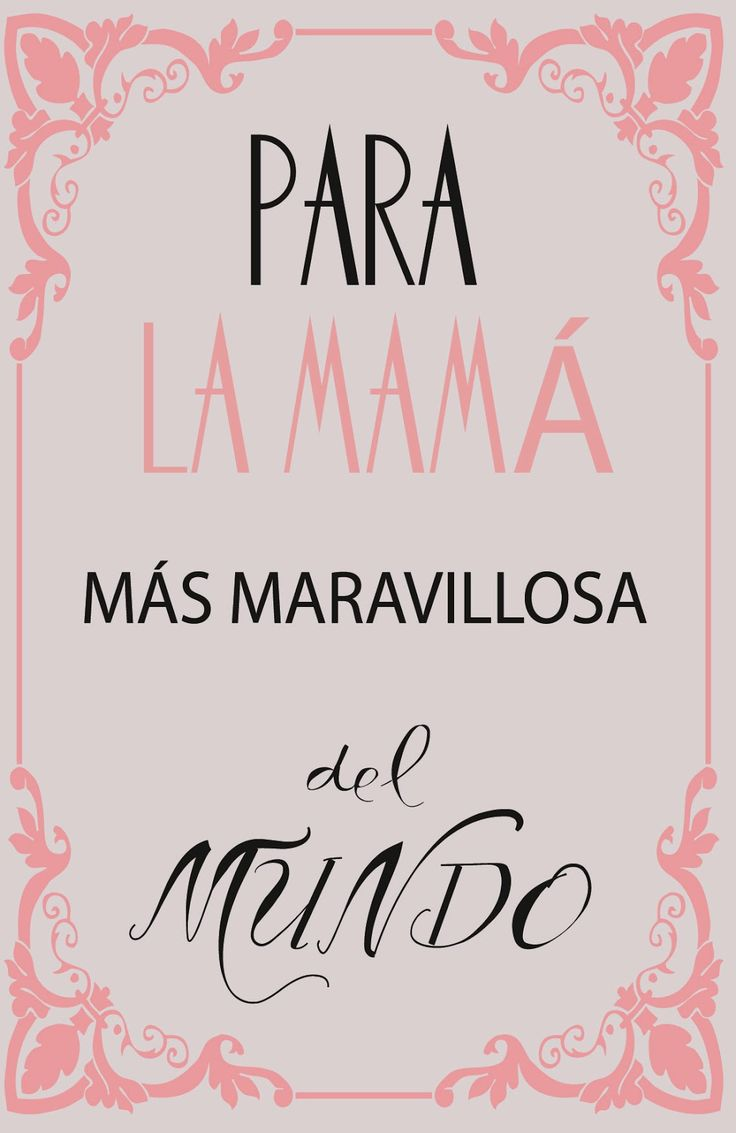 cartel día de la madre-mother's day poster