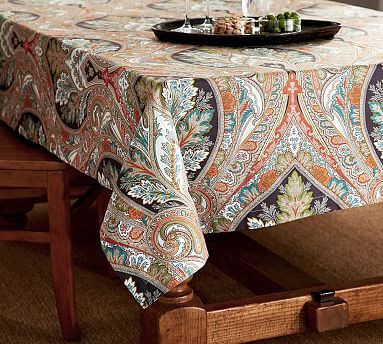 Anton Paisley Tablecloth Potterybarn Wanna Wanna Want