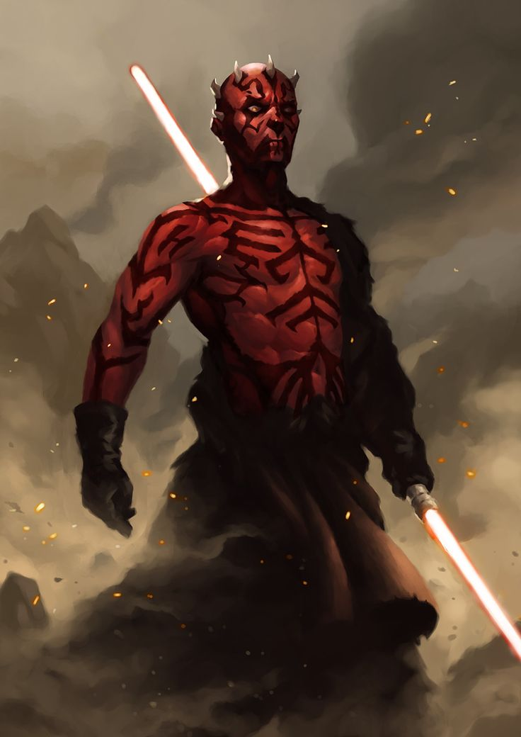 Darth Maul, Davie Chang on ArtStation at https://www.artstation.com/artwork/EwPNv