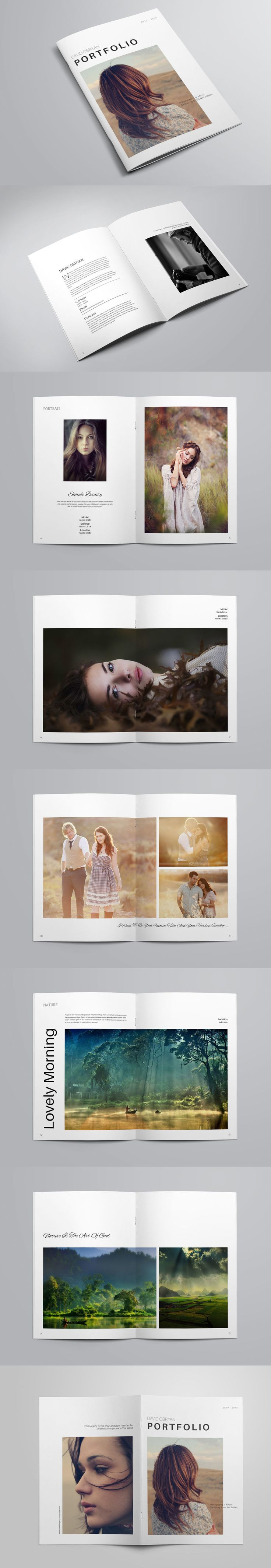 Clean and Modern Photography Portfolio Brochure Template INDD