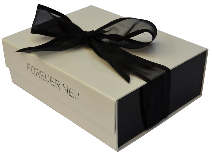 Forever New Flat Pack Gift Box with Sheer Ribbon