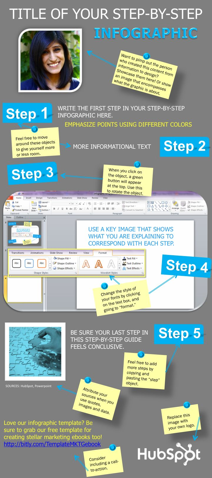 infographic template with PowerPoint