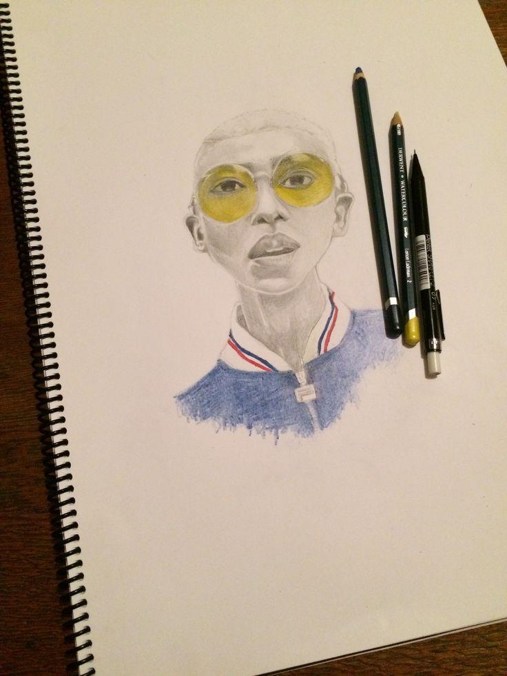 Portrait of Twiggy Moli Art by: Bongiwe Matodlana