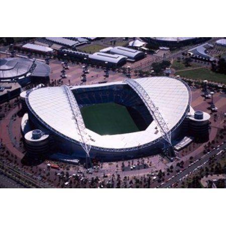 Stadium Australia Olympic Park Sydney Australia Canvas Art - David Wall DanitaDelimont (36 x 24)