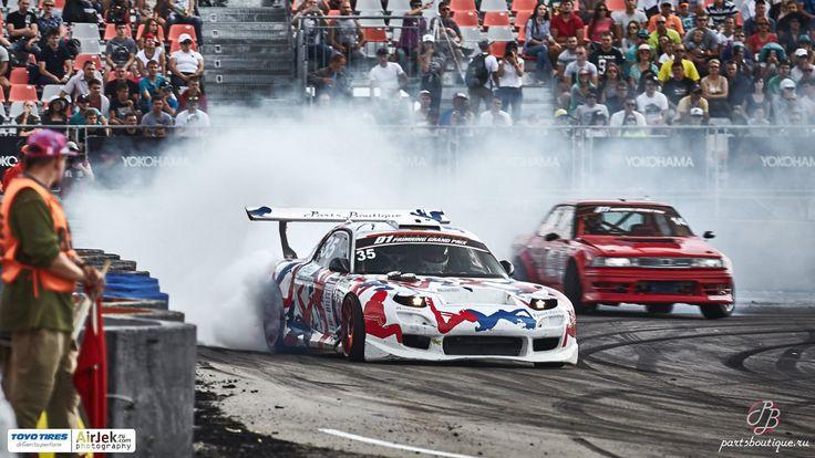 Иван Куренбин (Ivan Kurenbin) на D1 GP, прошедшем на PrimRing этой осенью. Mazda RX7 на WORK MCO Racing. http://PartsBoutique.ru