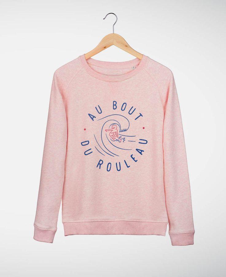 Sweatshirts Femme Au bout du Rouleau Rose by Madame TSHIRT