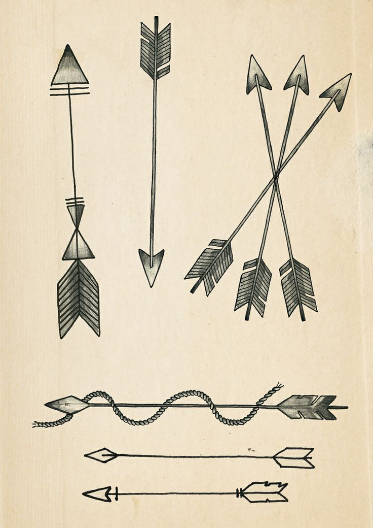 Arrows for part of a tattoo