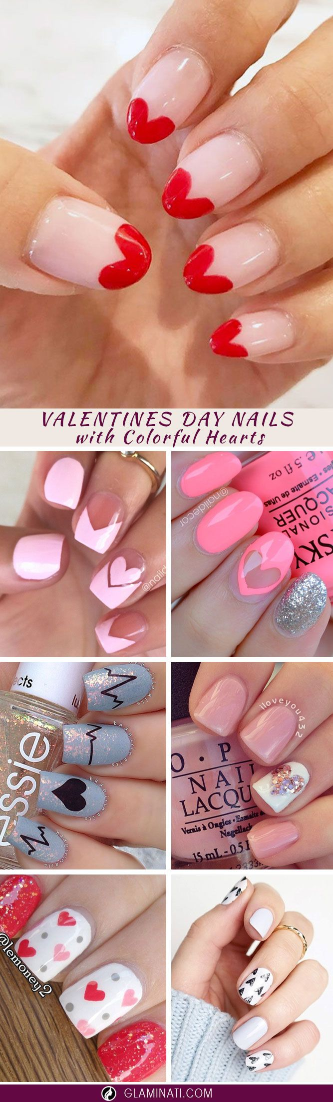 We have the best collection of Valentines Day nails, so you don't need to surf the net all day to find something flattering.
