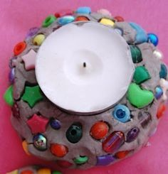 Good idea for using clay with little ones - Clay tea light holders. Could use at Christmas, Jesus light of the world etc