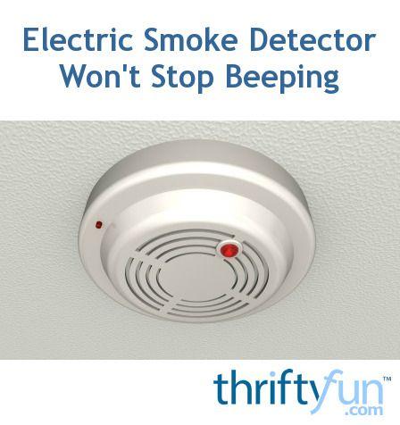 how to make smoke detector stop