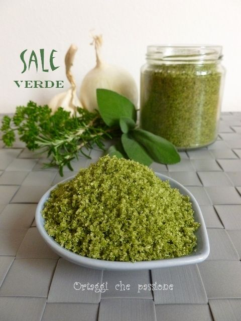 Sale verde aromatizzato, ricetta - salt flavored green, recipe - verdura & vegetables