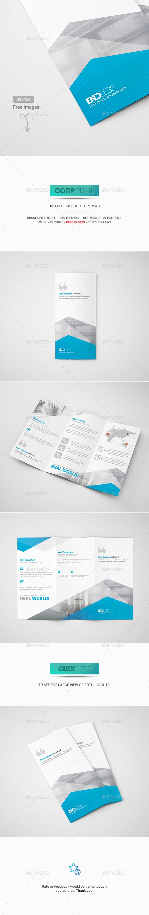 Tri-Fold Brochure Template PSD #design Download: http://graphicriver.net/item/trifold-brochure/13529405?ref=ksioks