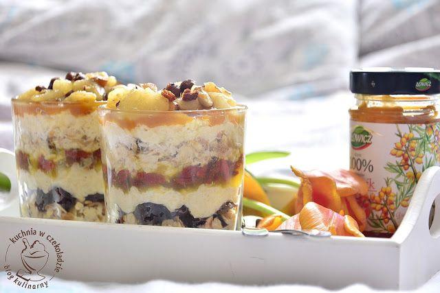 kuchnia w czekoladzie: Owsiankowe śniadanie w słoiczku