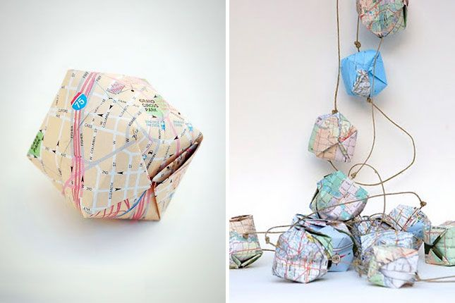 35 Clever Ways To Repurpose A Map via Brit + Co.