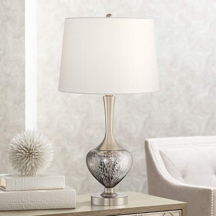 Martha Modern Metal And Glass Table Lamp 33d39 Lamps Plus