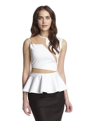 61% OFF Torn by Ronny Kobo Women's Marla Top with Mesh Inserts (White)