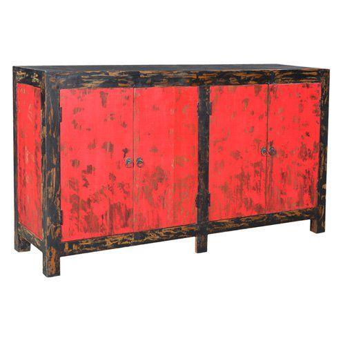 Hinges Design Auro Antique 4 Door Sideboard - 440801