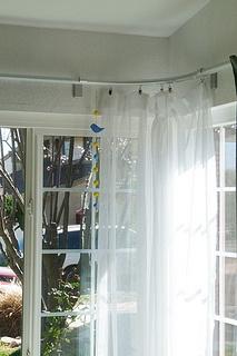 Ikea KVARTAL corner curtain rail by motoko smith.