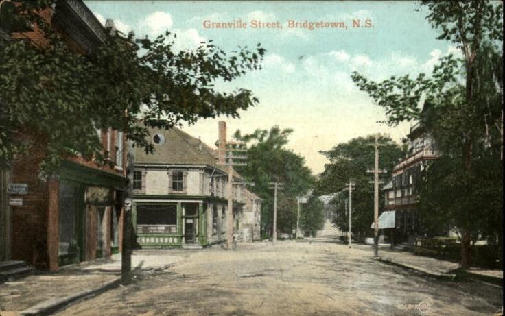 Bridgetown NS Granville Street c1910 Postcard
