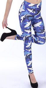 Blue Shark Leggings
