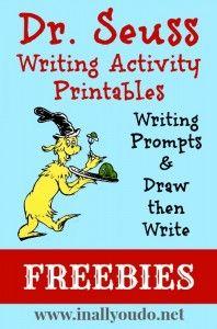 Dr. Seuss Writing Activity Printables Freebies