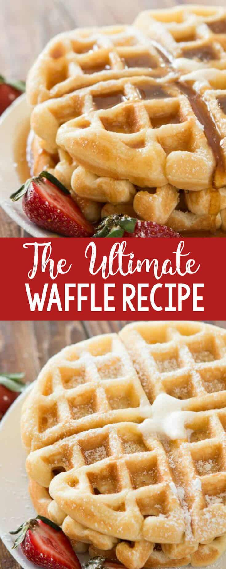 We tested over 100 waffles and this is the best buttermilk recipe out there! The ultimate waffle recipe and it's all thanks to a few simple secrets. OHSWEETBASIL.COM via @ohsweetbasil