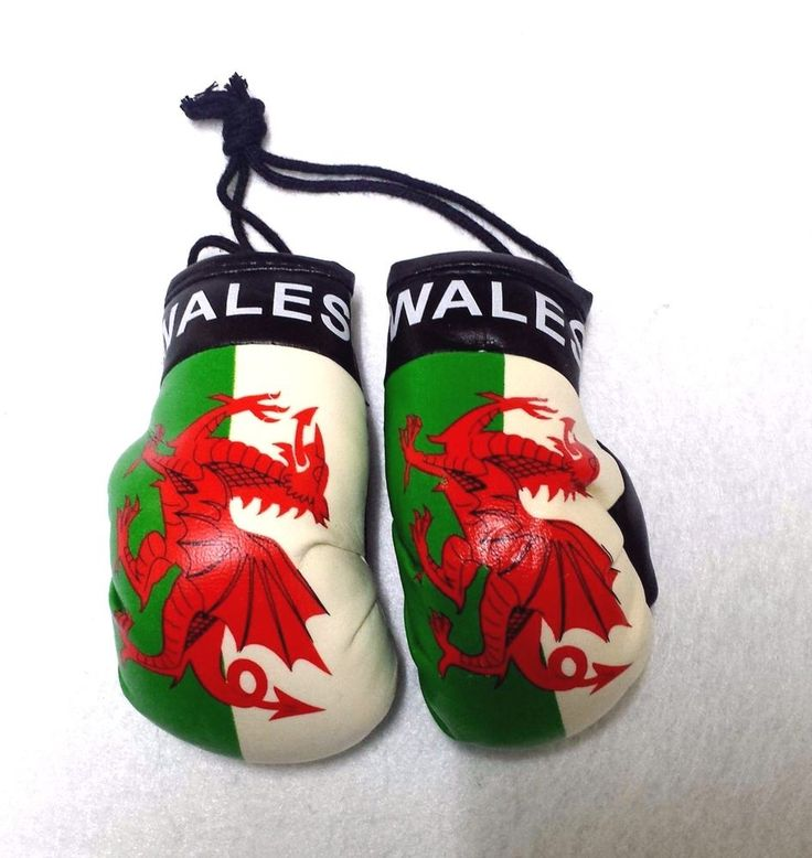 WALES Soccer Team Mini Boxing Gloves Car Auto Mirror Hanging Ornament Decor | eBay