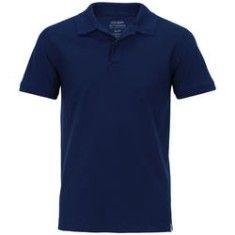 Camisa Polo Oxer Básica Terry - Masculina - AZUL ESCURO Oxer Centauro