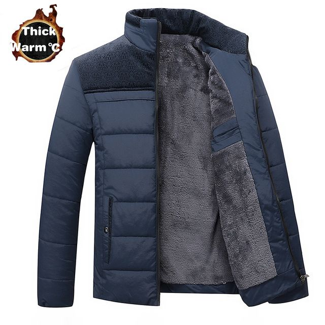 Top Offers $28.56, Buy Winter Brand Men Jacket Fur Hood With Cashmere Plus Size 4XL Winter Jacket High Quality Fashion Men's Coat Hot Sale