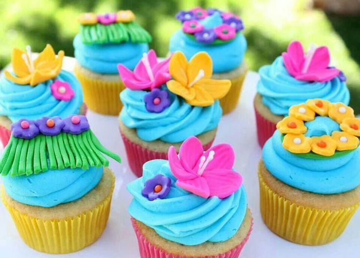 Tiny Hawaiian Cake Toppers