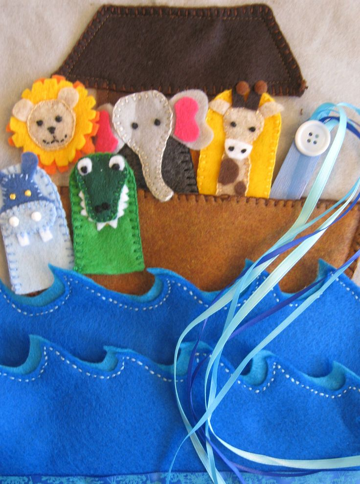 Animal Finger Puppet Frenzy Quiet Book Page.  Includes:  Farm and Noahs' Ark Pages. $30.00, via Etsy.