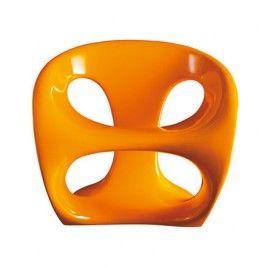 fauteuil-fibre-verre-laque-orange