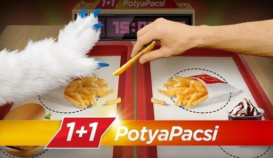1+1 PotyaPacsi Duel Game for McDonald's www.potyapacsi.hu