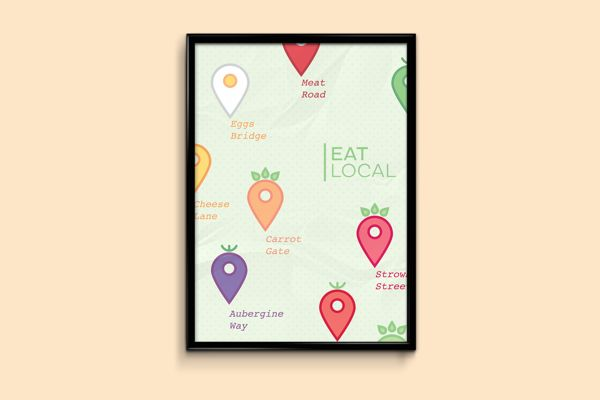 Mangia locale/Eat Local on Behance